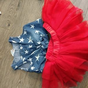 Adorable 4th of July baby outfit
